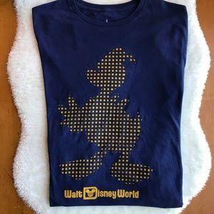 Disney Parks Donald Duck Blue Tee Shirt Sz XL